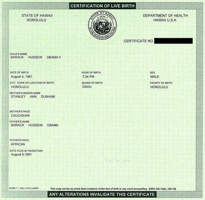 george w bush birth certificate. Obama#39;s irth certificate: