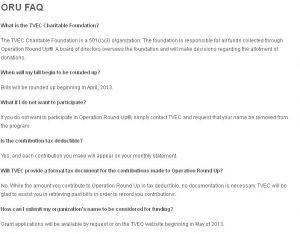 TVEC Operation Roundup FAQ